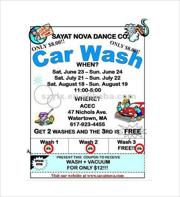 Free car wash coupon for Car wash coupon template