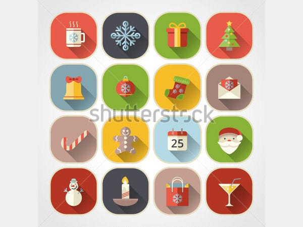 christmas icons for web and applications