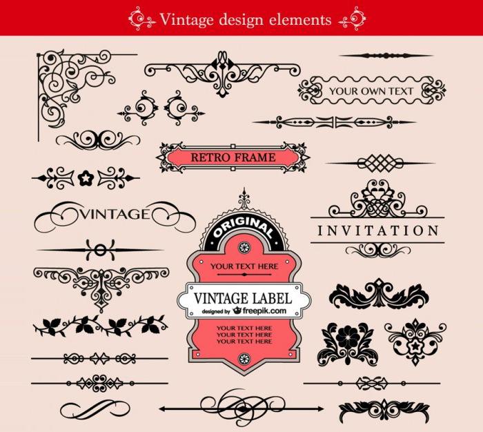 classic swirls vector template