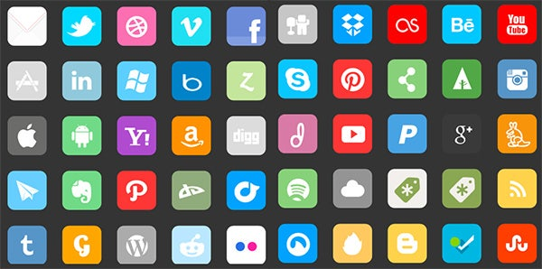 complte social media icons