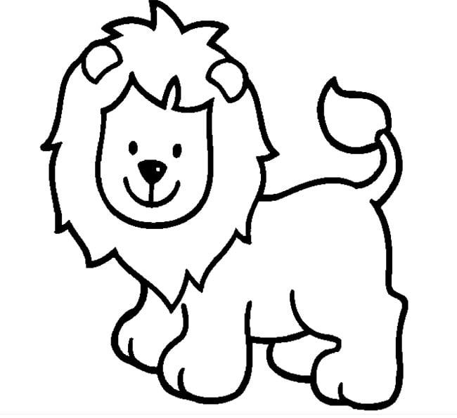 Pics Photos - Lion Coloring Template