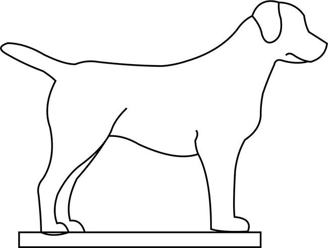 Simplicity image for dog template printable