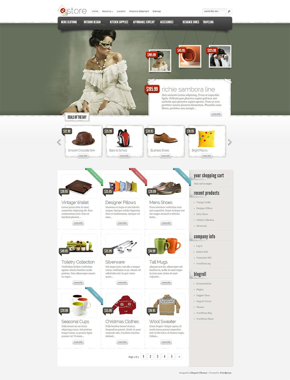 estore theme just another wordpress site