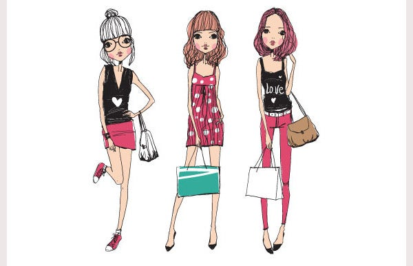 38 best fashion illustrations with different styles free