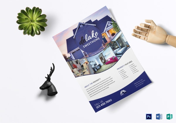 Sales Flyer Template Free PSD Format Download Free - House for sale brochure template