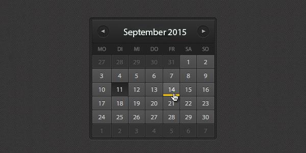 26 Html Calendar Templates Free Html Psd Css Format Download