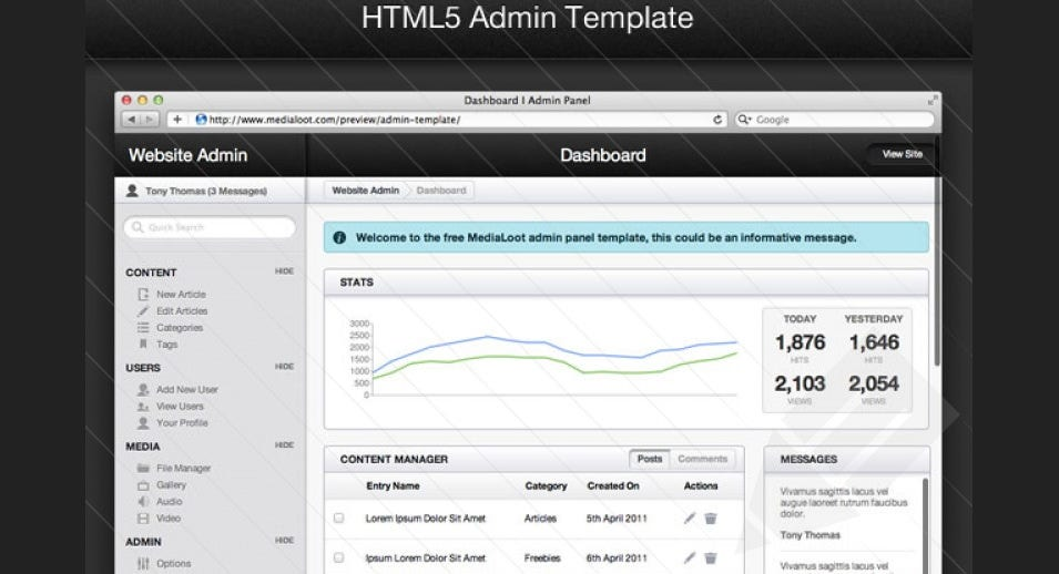 html template for admin panel - 31 admin panel php themes templates free premium