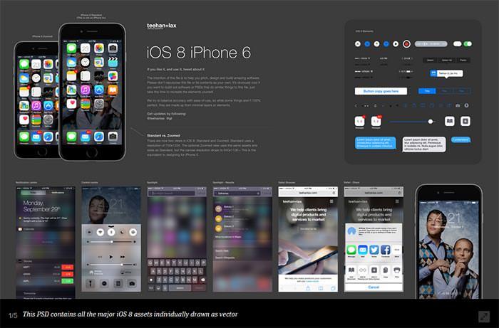 ios 8 gui psd iphone 6
