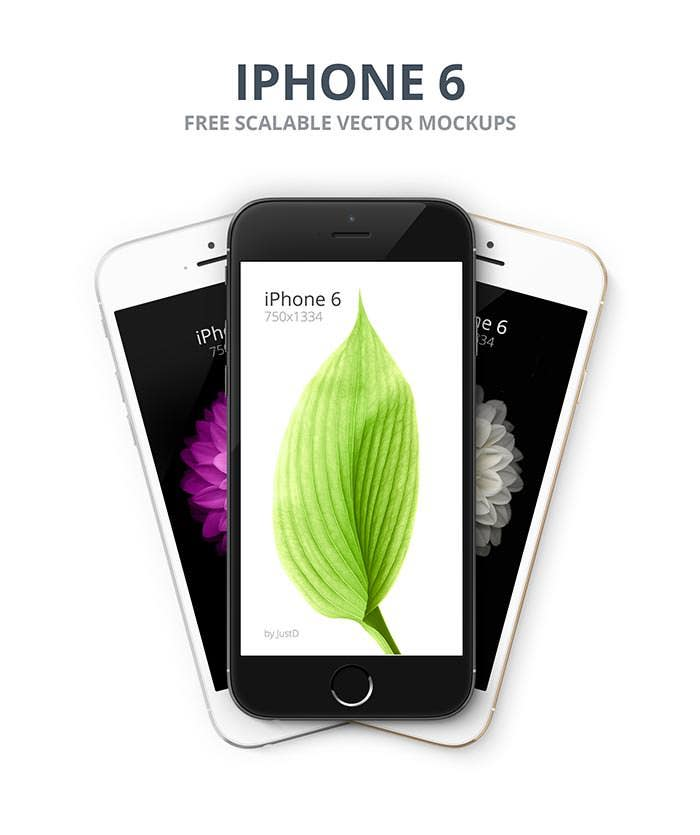 iphone 6 free scalable mockups