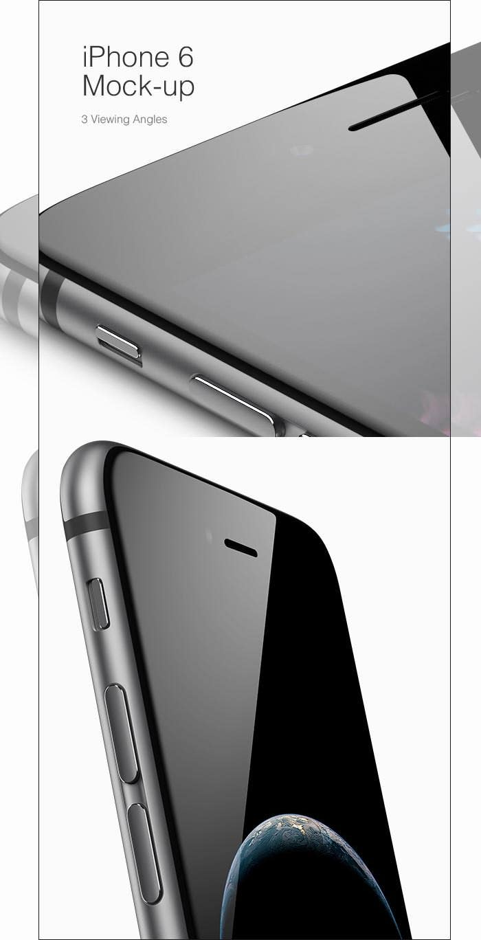 iphone 6 mockup with 3 angles