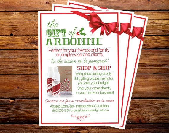 Holiday Arbonne Promotional Flyer
