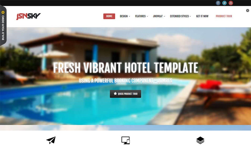 40 best joomla bootstrap templates themes free premium templates free sky joomla bootstrap template for hotels maxwellsz