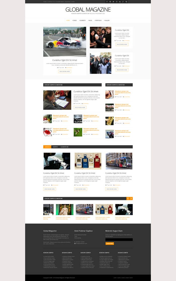 Global Magazine Premium Website Template