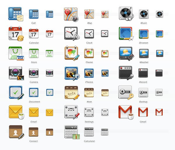 mobile application icon set2