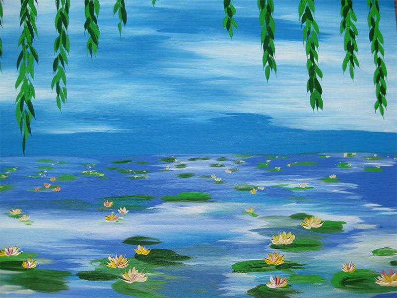 monet style painting impressionist