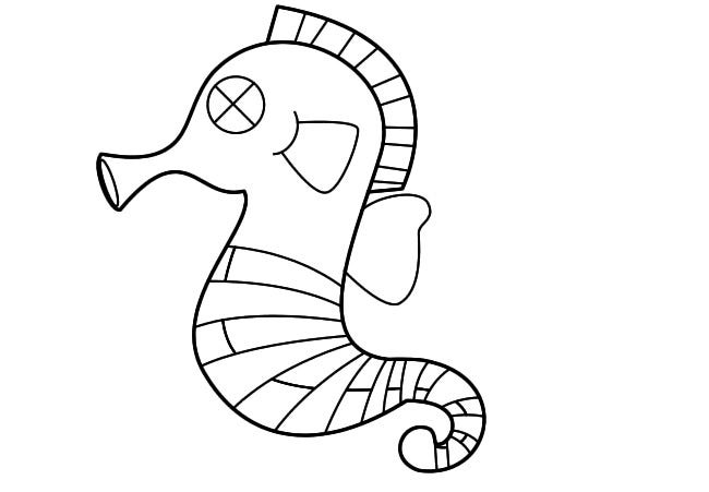 outline of sea horse