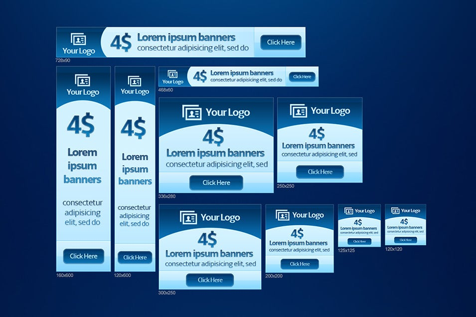 Blue Web Banners