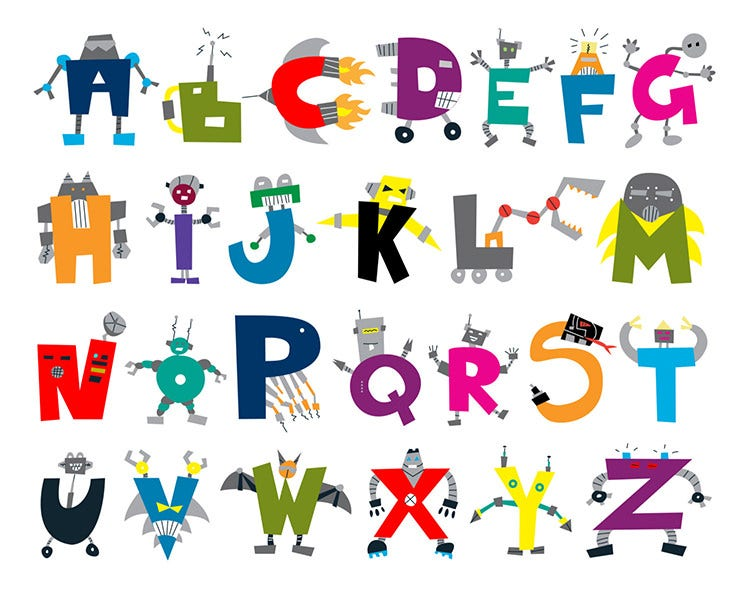 35 Best Printable Alphabet Posters & Designs