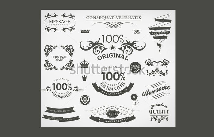 stock vector calligraphic design elements and page decoration vector set 131988233