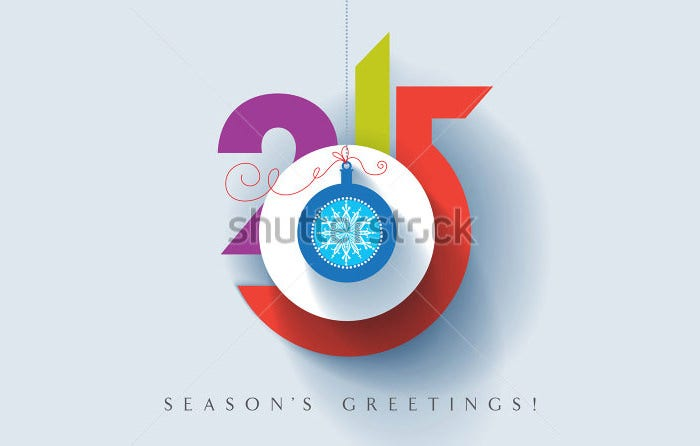 stock vector seasons greetings happy new year colorful contemporary design vector eps illustration 205684978