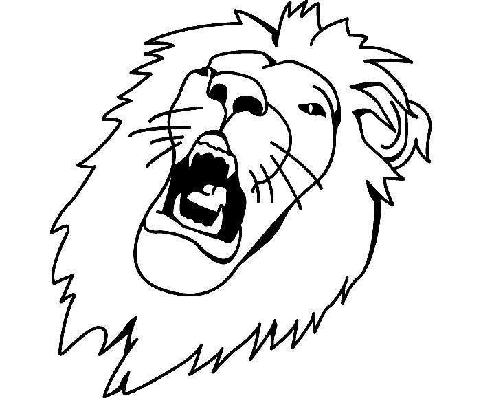 sample tiger template - Coloring Pages Lions Tigers