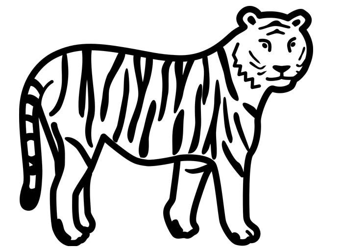 tiger template 21
