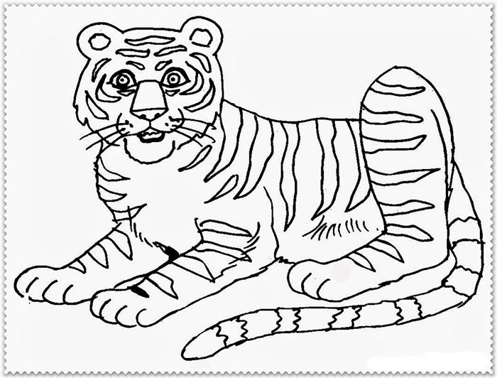 60+ Tiger Shape Templates, Crafts & Colouring Pages | Free & Premium