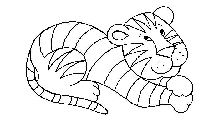 printable free tiger template