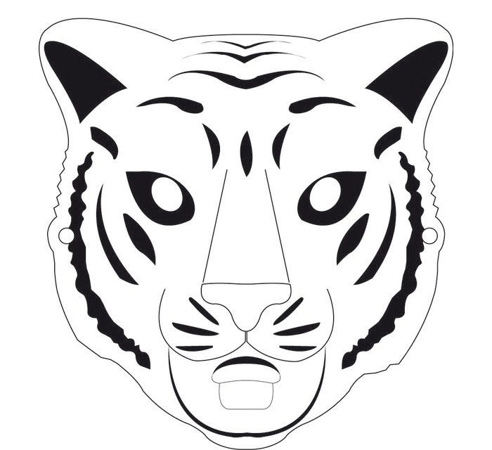60 tiger shape templates crafts colouring pages free for Dog mask template for kids