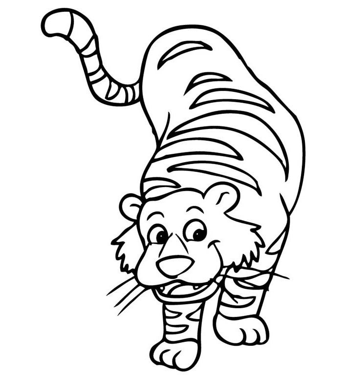 60+ Tiger Shape Templates, Crafts & Colouring Pages | Free & Premium ...