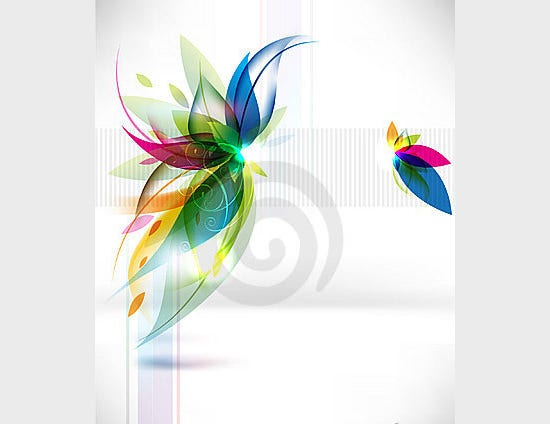 vector abstract multicolor leaf background