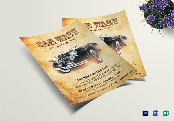 28  car wash flyers