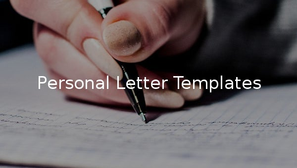 personal letter templates