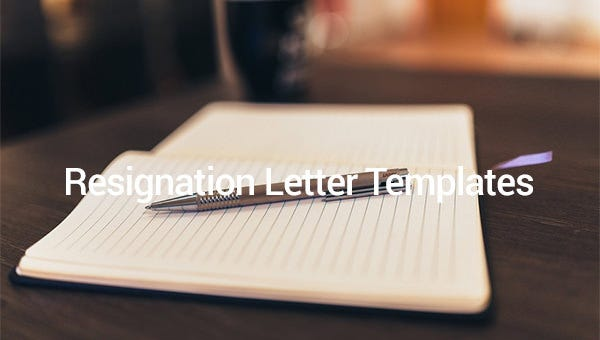 resignation letter template format