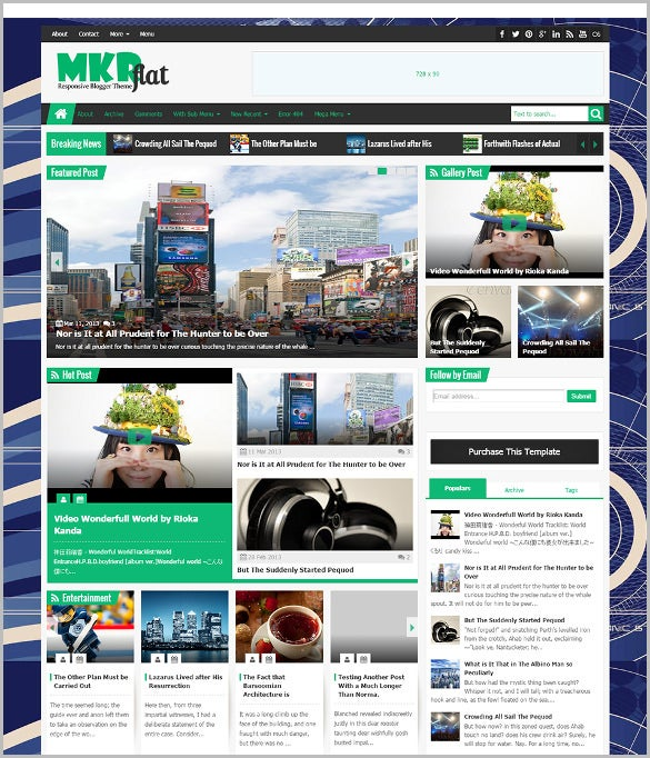 professional magazine news blogger theme