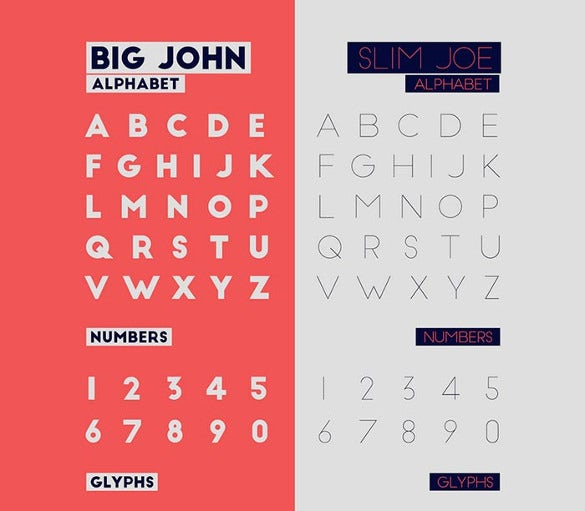 big john slim joe – free infographic font