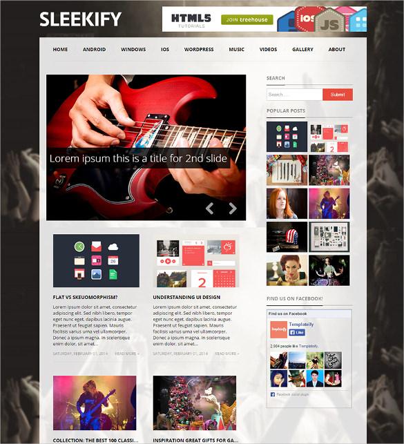sleekify responsive magazine blogger template1