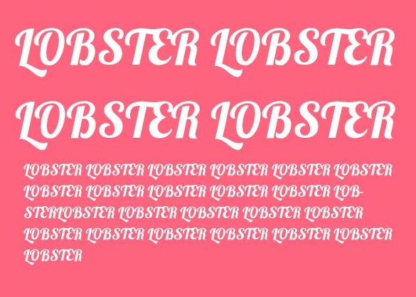 lobster infographic font