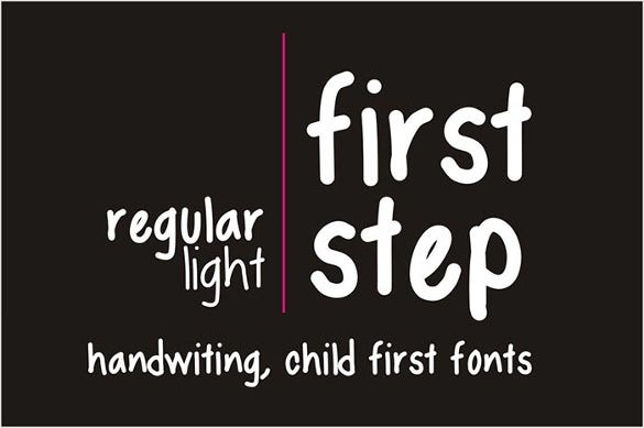 first step infographic font