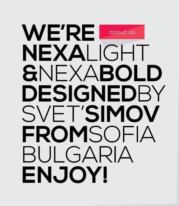 nexa free infographic font