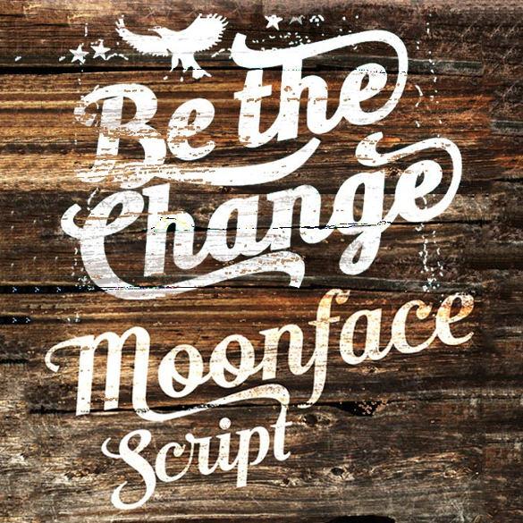 moonface script infographic font