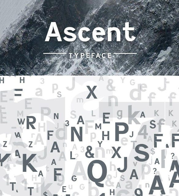 ascent typeface infographic font1
