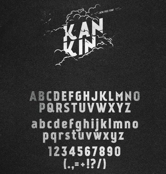 kankin free infogrpahic font
