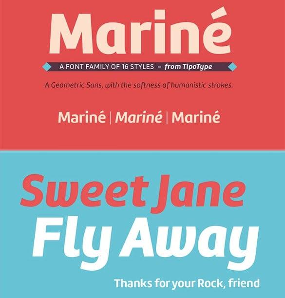 marine infographic font