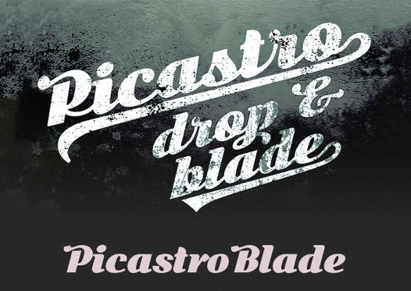 picastro blade drop infographic font