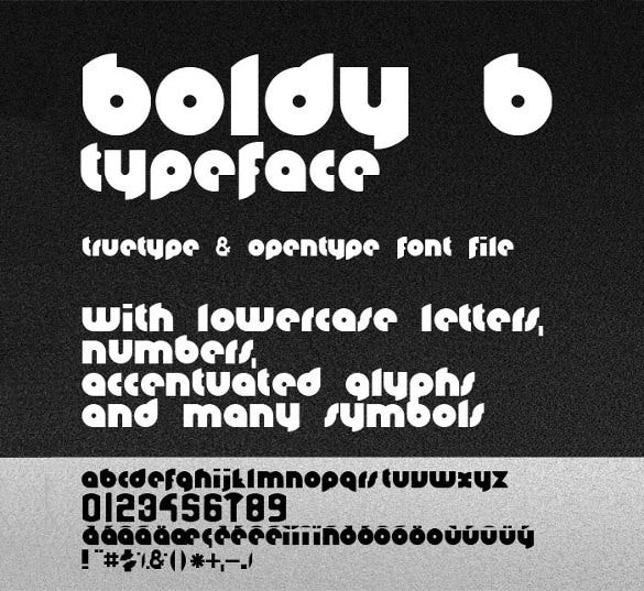 boldyb infographic font