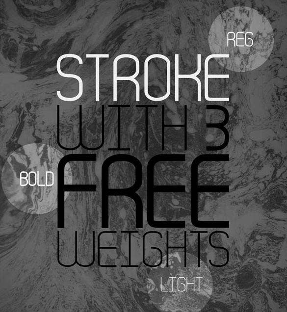 stroke infographic font