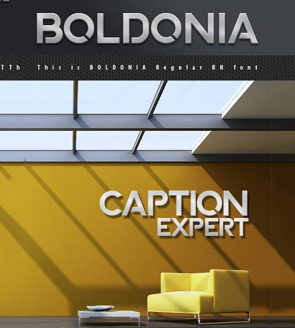 boldonia infographic font