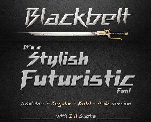 blackbelt infographic font