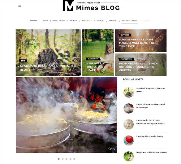 mimes photography blogger template